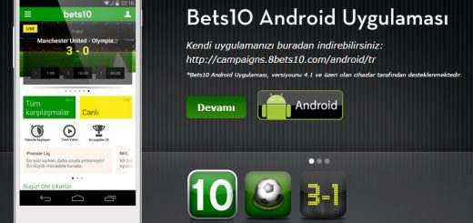 Bets10 Mobil Android